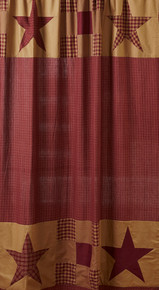 Ninepatch Star Shower Curtain-VHC-72x72