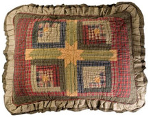 Sham-Tea Cabin-Quilted-21x27