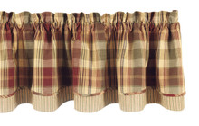 Valance- Saffron- Lined Layered- 72x16- Park Designs