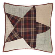 Quilted Pillow- Abilene Star- 16x16- Victorian Heart