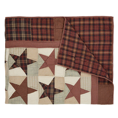 Quilted Throw- Abilene Star- 70x55- Victorian Heart