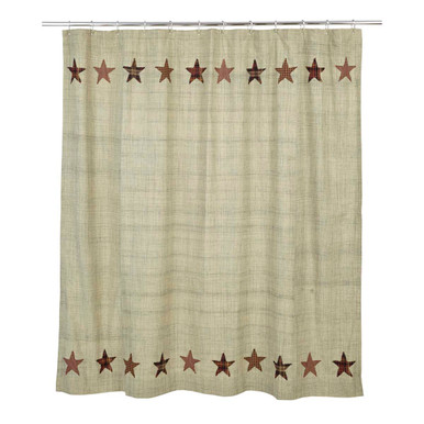 Shower Curtain Abilene Star 72x72 Victorian Heart
