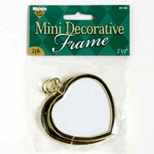 Mini Decorative Heart Frame 2pk