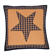 Quilted Pillow- Teton Star- 16x16- Victorian Heart