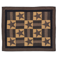 Quilted Throw- Teton Star- 60x50- Victorian Heart