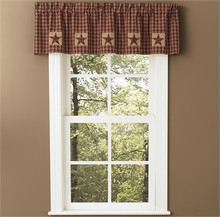 "Valance-60""x14""-Lined-Sturbridge Patch Wine (316-476K)"