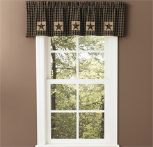 "Valance-60""x14""-Lined-Sturbridge Patch Black"