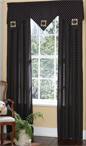 "Lined Triple Point Valance- Carrington- 60""x20"" Park Designs"
