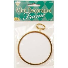 "Mini Decorative 3 1/4"" Round Frame 1pk"
