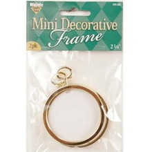 "Mini Decorative 2 1/4"" Round Frame 2pk"