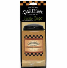 Vanilla Crumb Cake - Car Air Freshener - Candleberry Co.