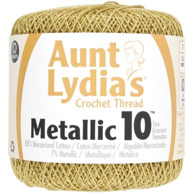 Aunt Lydia's Metallic Crochet Thread Size 10