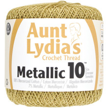 Aunt Lydia's Metallic Crochet Thread Size 10