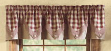 "York Wine Point Valance - 72""x15"""