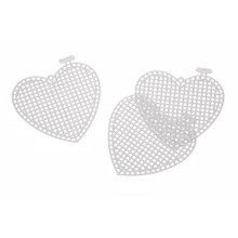 3in Plastic Canvas Heart - 10pk