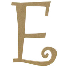 "8"" Curly Letter E"