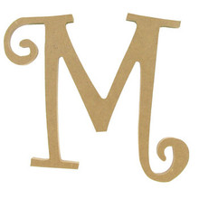 "8"" Curly Letter M"