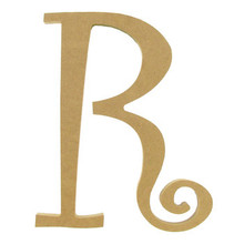 "8"" Curly Letter R"