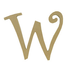 """8"""" Curly Letter W"""