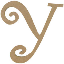 """8"""" Curly Letter Y"""