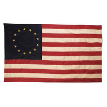 "Tea Stained 13 Star American Flag - 60""x36"""