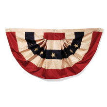"Tea Stained American Flag Bunting - 48""x25"""