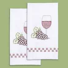 Wine & Grapes Hand Towels