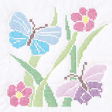 "Cross Stitch Butterflies 18"" Quilt Blocks"