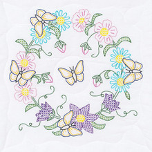 "Butterfly Wreath 18"" Quilt Blocks"