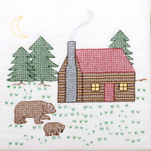 "Cabin & Bears 18"" Quilt Blocks"