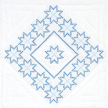 "Cross Stitch Panel of Stars 18"" Quilt Blocks"