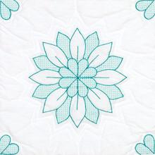 "Interlocking Mandala Flowers 18"" Quilt Blocks"