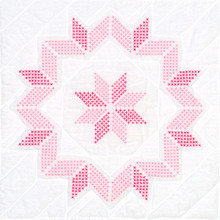 "Cross Stitch Kaleidoscope Star 18"" Quilt Blocks"