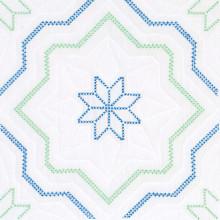 "Interlocking Cross Stitch Star 18"" Quilt Blocks"
