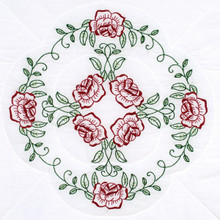 "Circle of Roses 18"" Quilt Blocks"