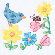 "Birds & Flowers 18"" Quilt Blocks"