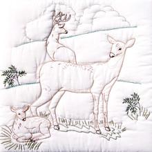 """Deer Family 18"""" Quilt Blocks"""
