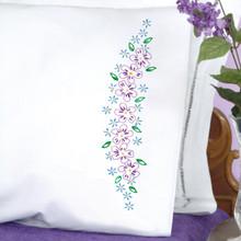 Lavender Flowers Perle Edge Pillowcases