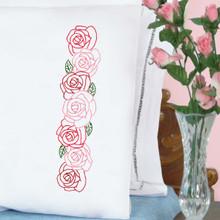 Rose Garden Perle Edge Pillowcases