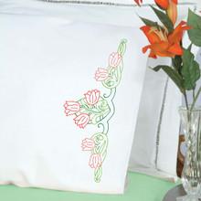 Tulips Perle Edge Pillowcases