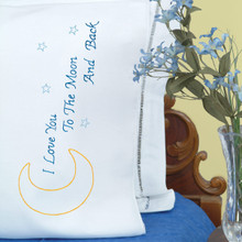 Love You to the Moon Perle Edge Pillowcases