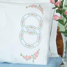 Wedding Ring Lace Edge Pillowcases