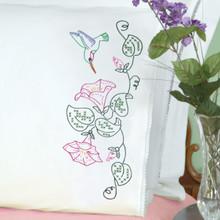 Hummingbird Lace Edge Pillowcases