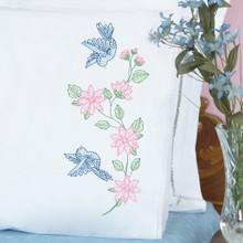 Birds Lace Edge Pillowcases