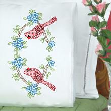 Cardinals Lace Edge Pillowcases