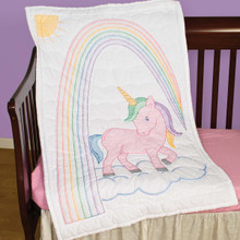 Unicorn Crib Quilt Top