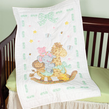 Giraffe & Friends Crib Quilt Top