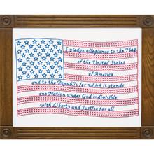 """Pledge of Allegiance 11""""x14"""" Sampler"""