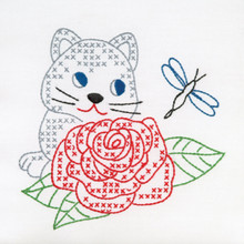 "Kitten & Rose 9"" Quilt Blocks"