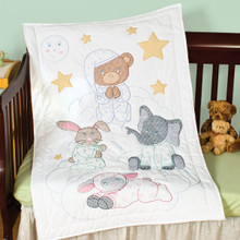 Praying Bear & Friends Crib Quilt Top